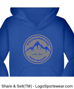 Youth Blue Hoodie Design Zoom
