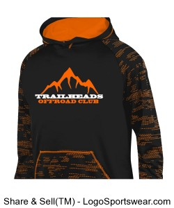 Men's Orange Digital Camo Hoodie Design Zoom