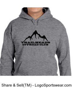Men's Heather Grey Hoodie Design Zoom