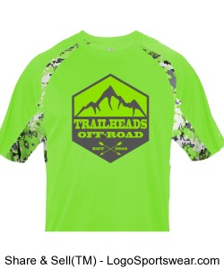 Youth Lime Green Digital Camo Shirt Design Zoom