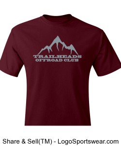 Men's Maroon T-Shirt Design Zoom