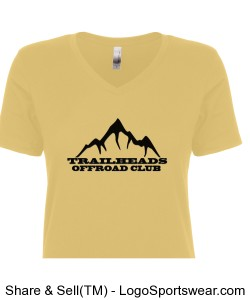 Ladies V-Neck Yellow T-Shirt Design Zoom