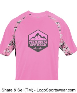 Youth Pink Digital Camo Shirt Design Zoom