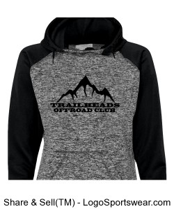 Ladies Black Hoodie Design Zoom